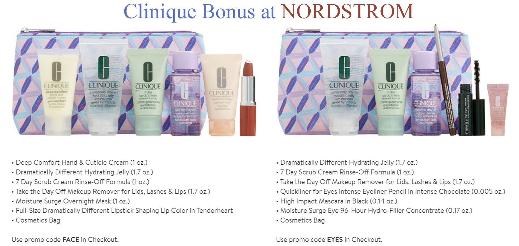 Fall Clinique GWP at Nordstrom Clinique gift, Clinique