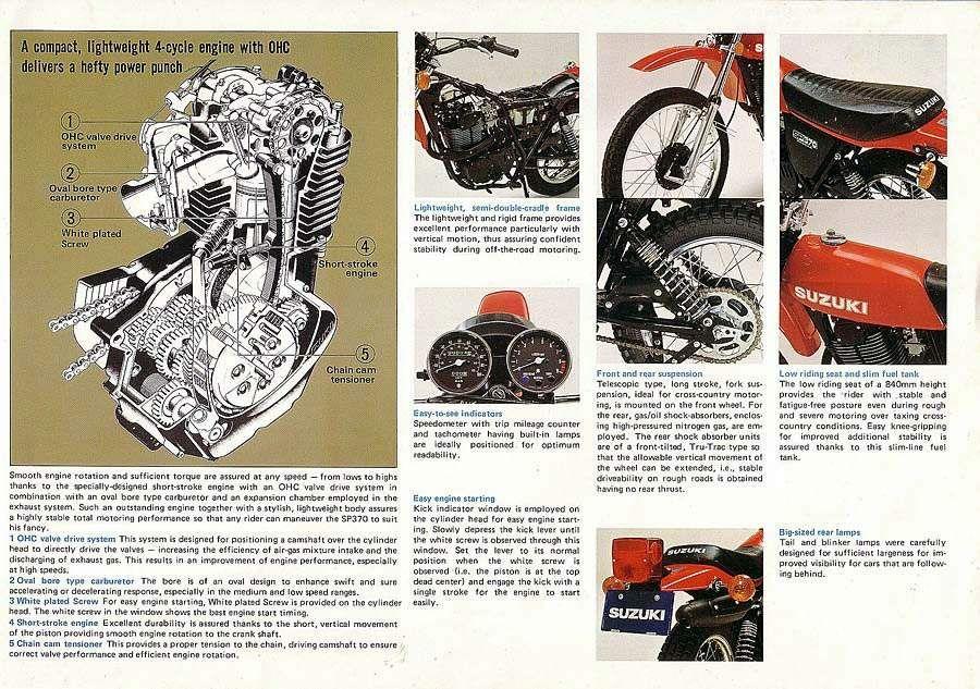 Suzuki SP370 Sales Brochure * Suzuki, Cycle, Sales brochures