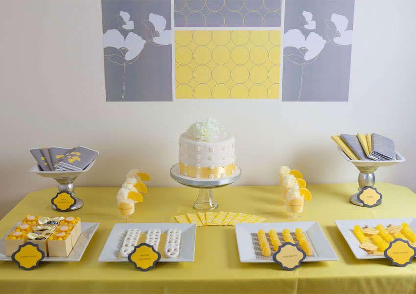 mariage en gris et jaune couleur mariage anniversaire 30 ans pinterest vintage d co et. Black Bedroom Furniture Sets. Home Design Ideas