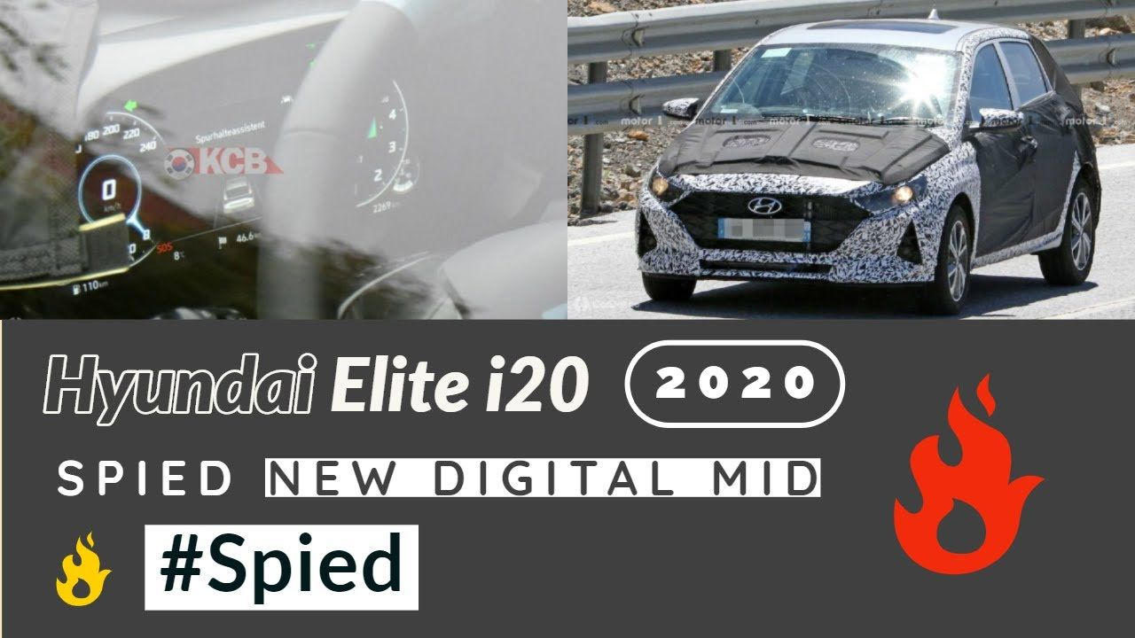 New Hyundai Elite I20 2020 Spiedagain With Digital Mid Launch Date Pr New Hyundai Hyundai Digital