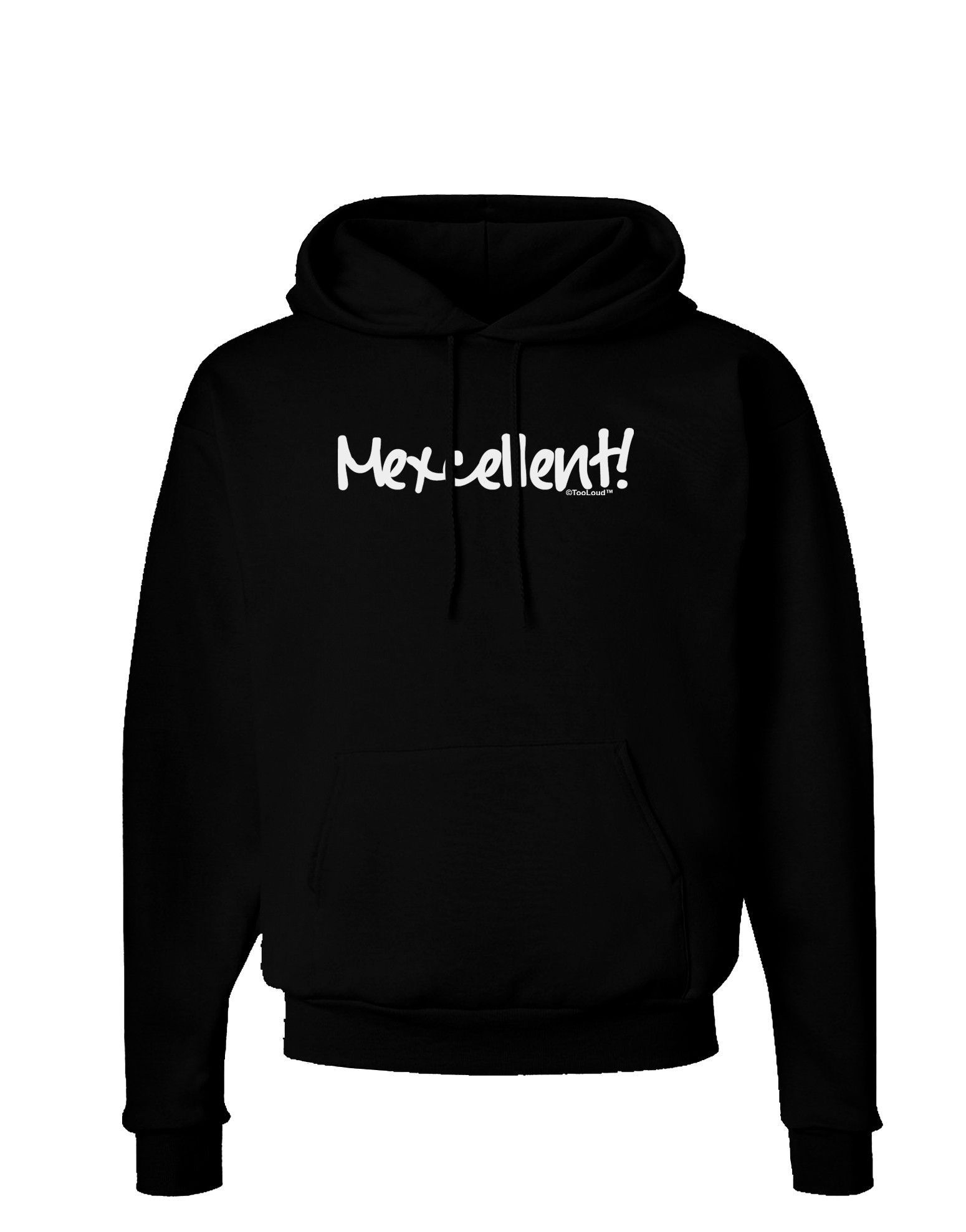 TooLoud Mexico Text - Cinco De Mayo Dark Hoodie Sweatshirt