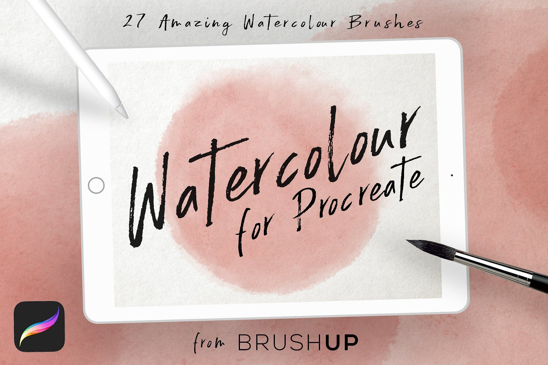 Watercolor Brushes for Procreate  Contains 27  stunning