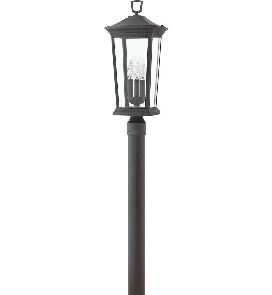 Hinkley Lighting 2361mb Ll Bromley Museum Black 3 Light Led Outdoor Post Mount In 2020 Hinkley Lighting Outdoor Post Lights Lighting