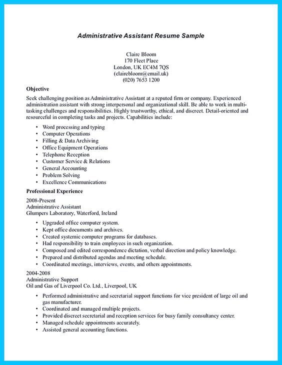 Administrative Assistant Functional Resume Pinhired Design Studio On Resume Writing  Pinterest  Resume .