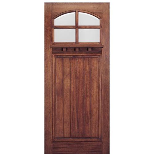MAI Doors HTC400-1 Front Doors On Sale Mahogany Square Top 4-Lite ...
