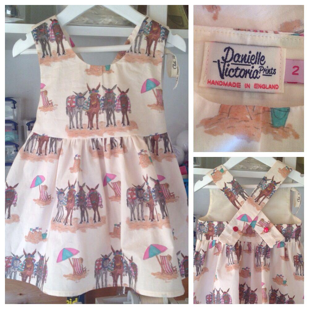 donkey print girls dresses handmade danielle victoria prints