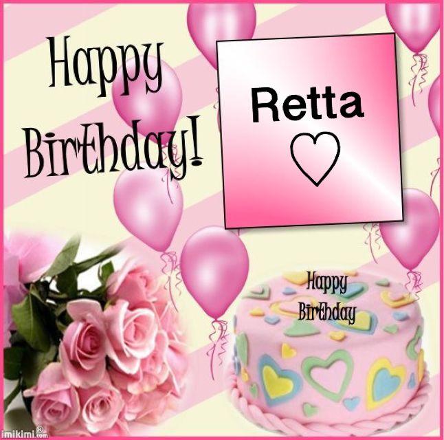 Happy Birthday Retta Made by Marcy RETTA KAY ~ N ~ ROBERT - happy birthday word template