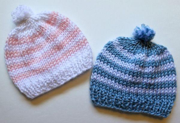 Knitting Newborn Hats For Hospitals Baby Hats Knitting Patterns