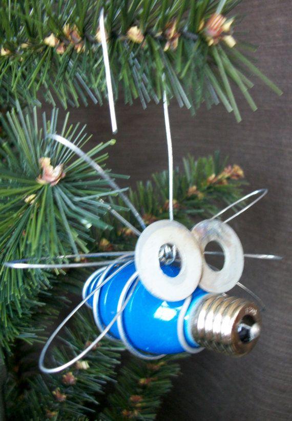 BLUE Christmas Light Bug Ornament by TooShai on Etsy, $500 Crafts