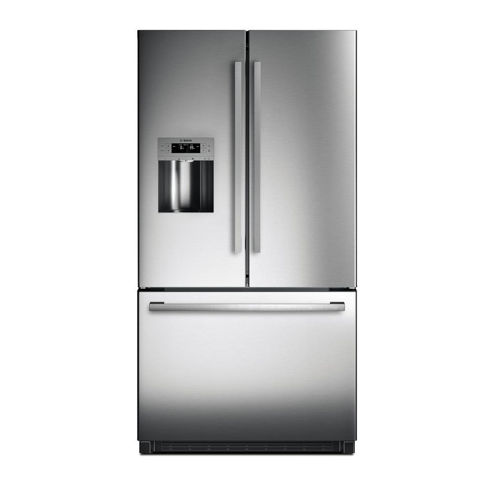 Bosch 800 Series 36 In 25 Cu Ft French Door Refrigerator In