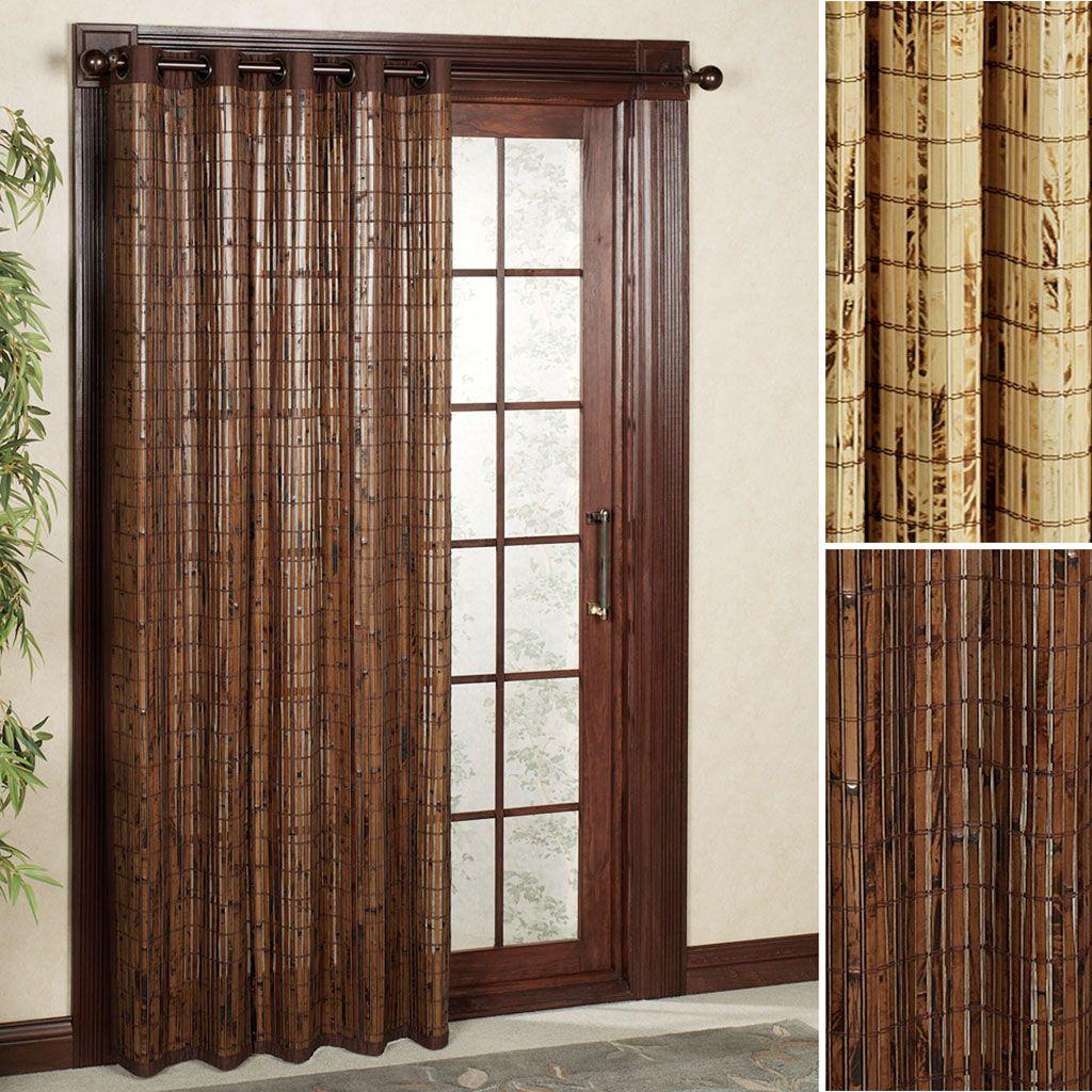 Sliding Drapes Curtains For Sliding Glass Doors Bamboo