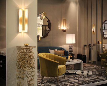 AURUM Wall Light Contemporary Lighting Design by BRABBU fulfils your modern home decor through its hammered brass.