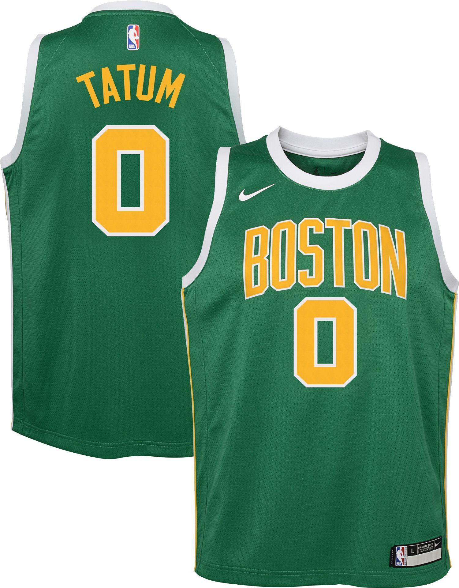 finest selection 0dd44 52f2d Nike Youth Boston Celtics Jayson Tatum Dri-FIT Earned ...