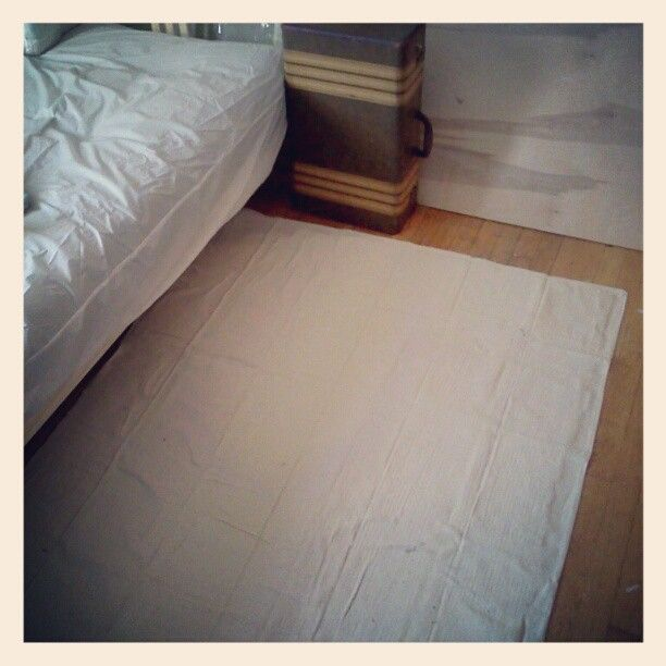 Rug Solution Canvas Drop Cloth With Non Skid Backing Spray Glued On