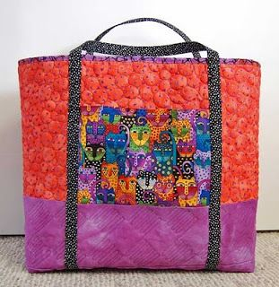 Terri Stegmiller Art Quilts: The Big Tote - Free Pattern Now Available