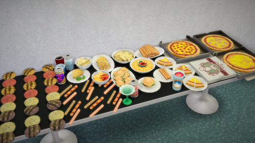 Fast Food and Snacks - extracted food from debug mode + plastic cups ...