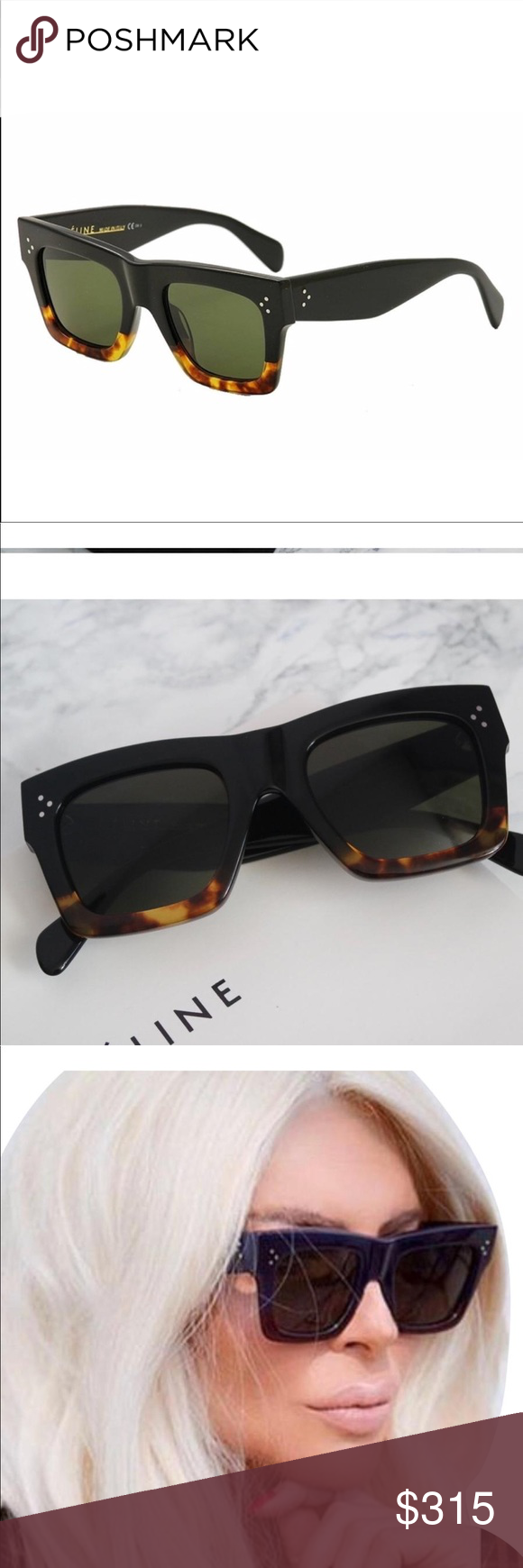 f23c67af42b6d Celine 41054 black Havana sunglasses Brand new Celine CL 41054 S Sunglasses.  Available