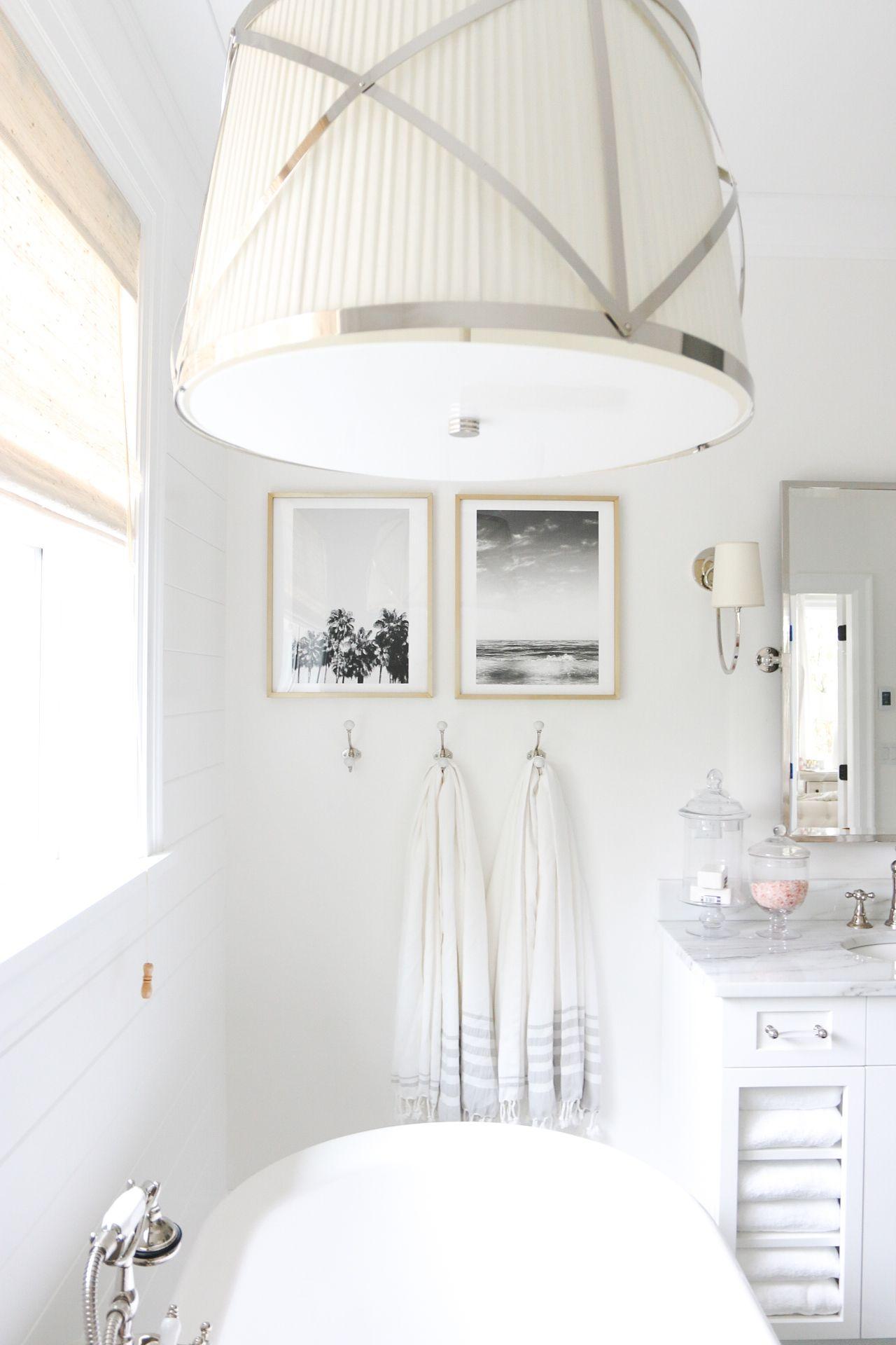 This classic coastal bathroom from Monika, of Monika Hibbs, uses ...