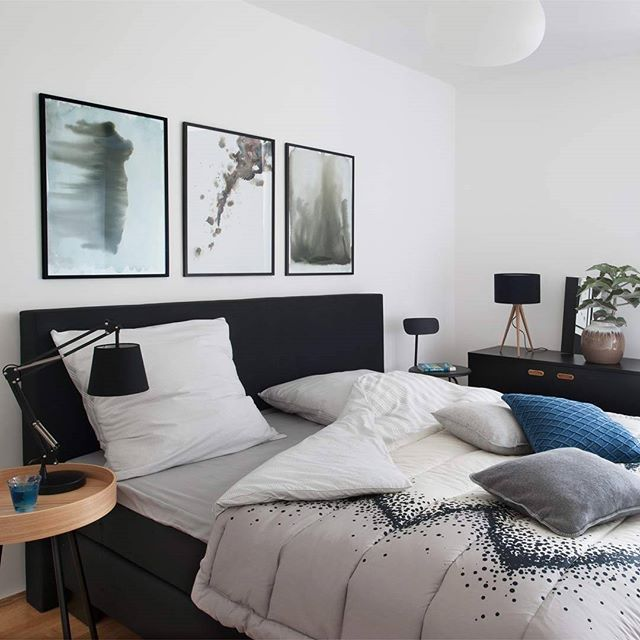 In This Look We Used A Designer Chair And A Side Table Instead Of Normal Bed Tables What Do You Think Of This Idea Bedroom Decor Rustic Bedroom Decor Malm Bed