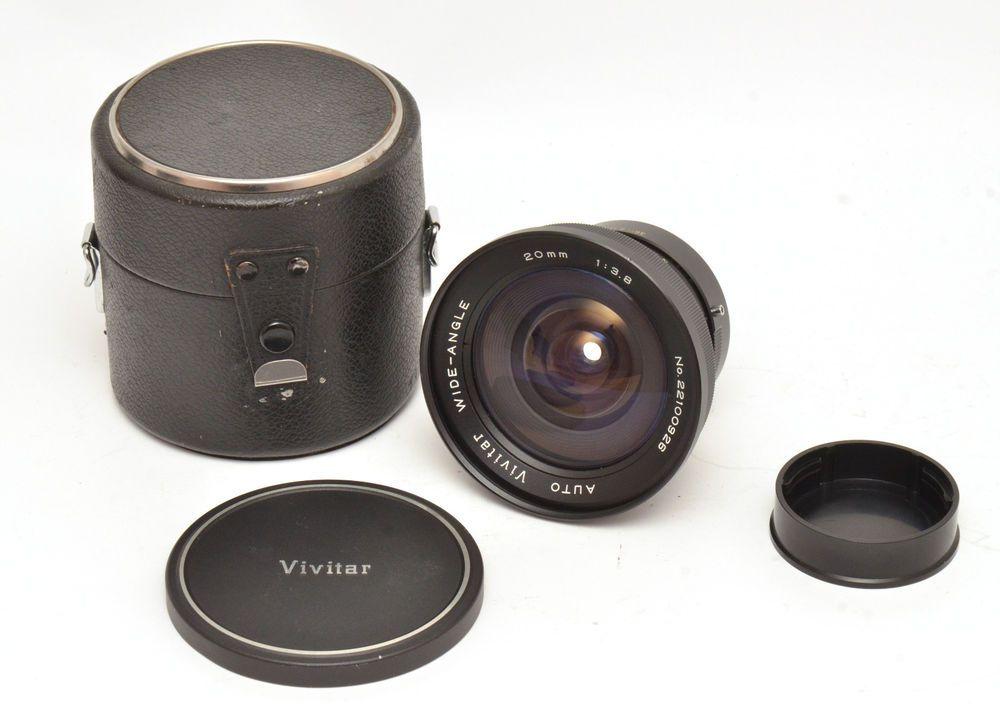 Auto Vivitar Wide-Angle 20mm F3 8 Lens For Konica AR Mount