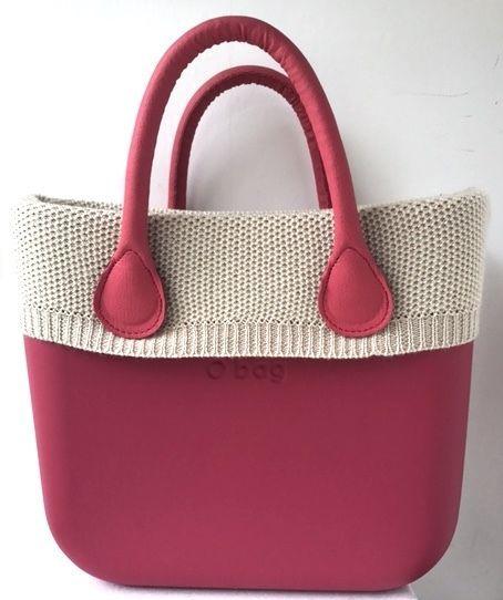 82cc4131a6 Borsa O Bag Mini Ciliegia+Manici Corti Ciliegia+Bordo Lana Beige FOR SALE •