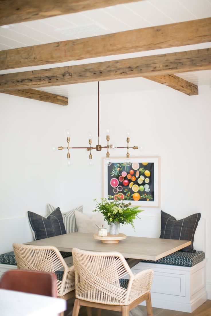 Kelly Nutt Design - loving this built in dining table
