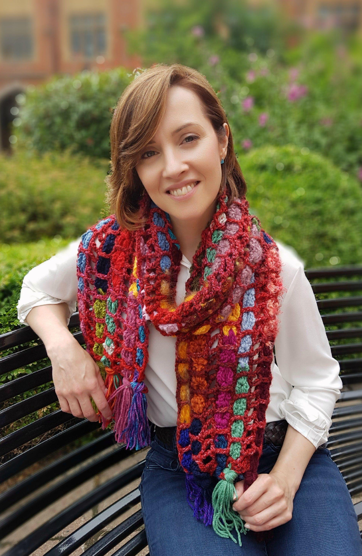 Magical Mesh Scarf Crochet Pattern Syal Crochet Patterns
