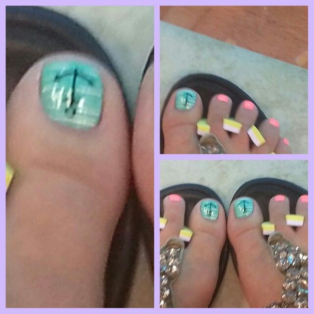 Anchor toenail design - Anchor Toenail Design Get'n My Nails Did Pinterest Nail Nail