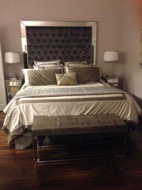 Stoff Kopfteil Für Doppelbetten Schlafzimmer   Stoff Kopfteil Für  Doppelbetten U2013 Das Stoff Kopfteil