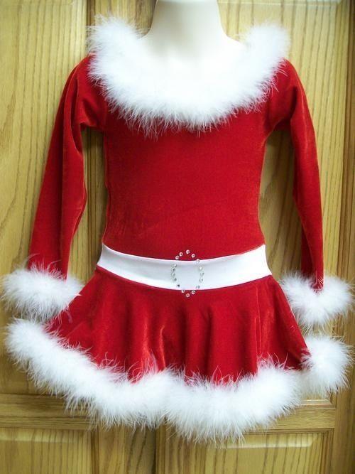 Christmas Ice Skating Dress.Details About New Girls Red Velvet White Sequin Santa