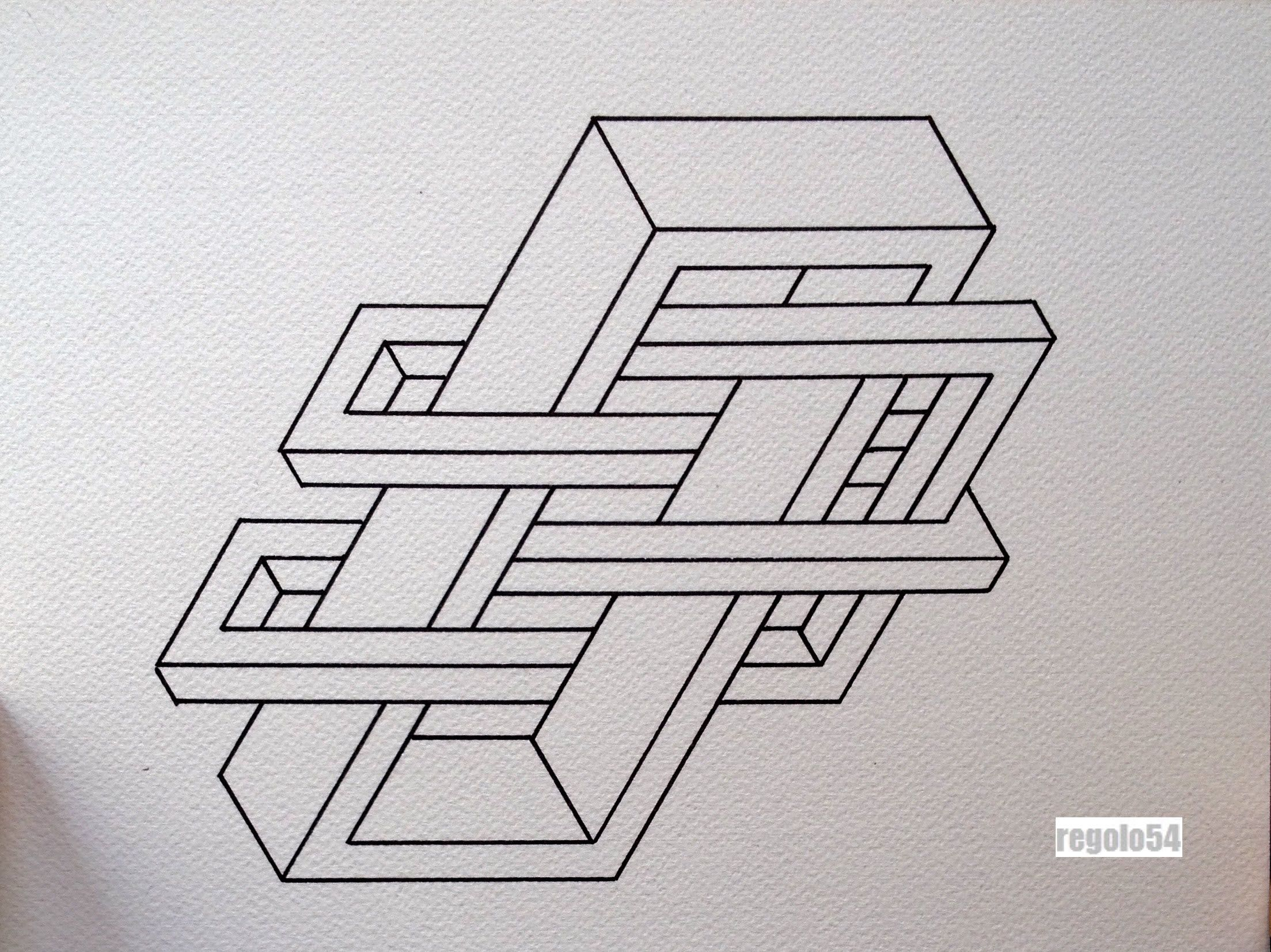 Regolo54 Impossible Isometric Penrosetriangle Oscar Reutersward Symmetry Leer Tekenen Tekenen
