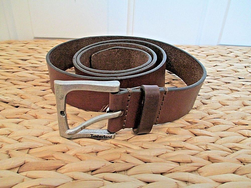 057c8001ba2 Timberland Leather Belt 38 Brown Soft Square Buckle #Timberland ...