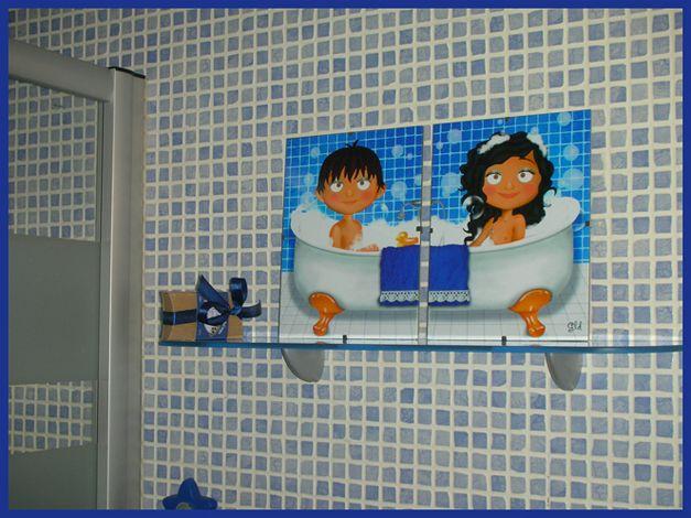 Ba o infantil ideas para el hogar ba os cuadros para ba os y infantiles - Cuadros para el bano ...