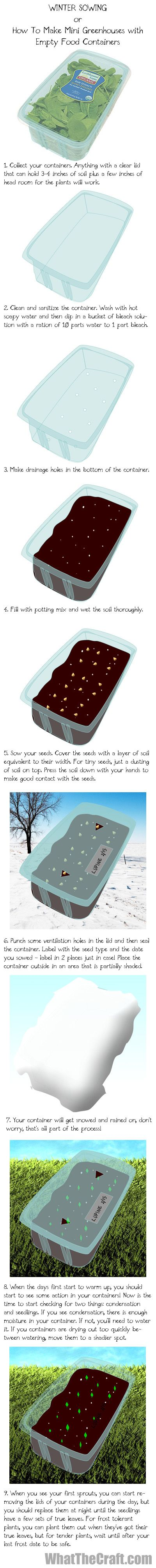 winter sowing tutorial gardening pinterest tutorials winter