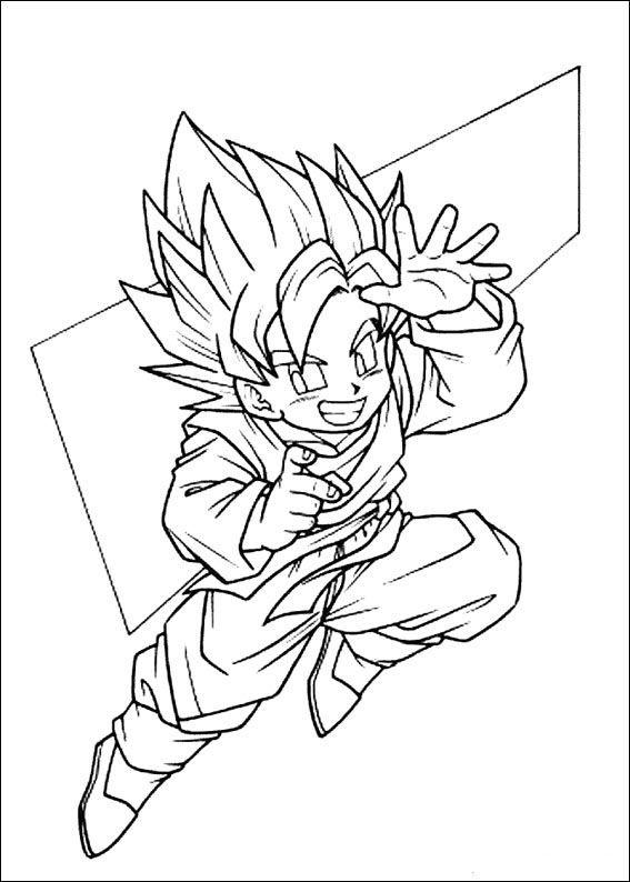 Dragon Ball Z Ausmalbilder. Malvorlagen Zeichnung druckbare nº 94 ...