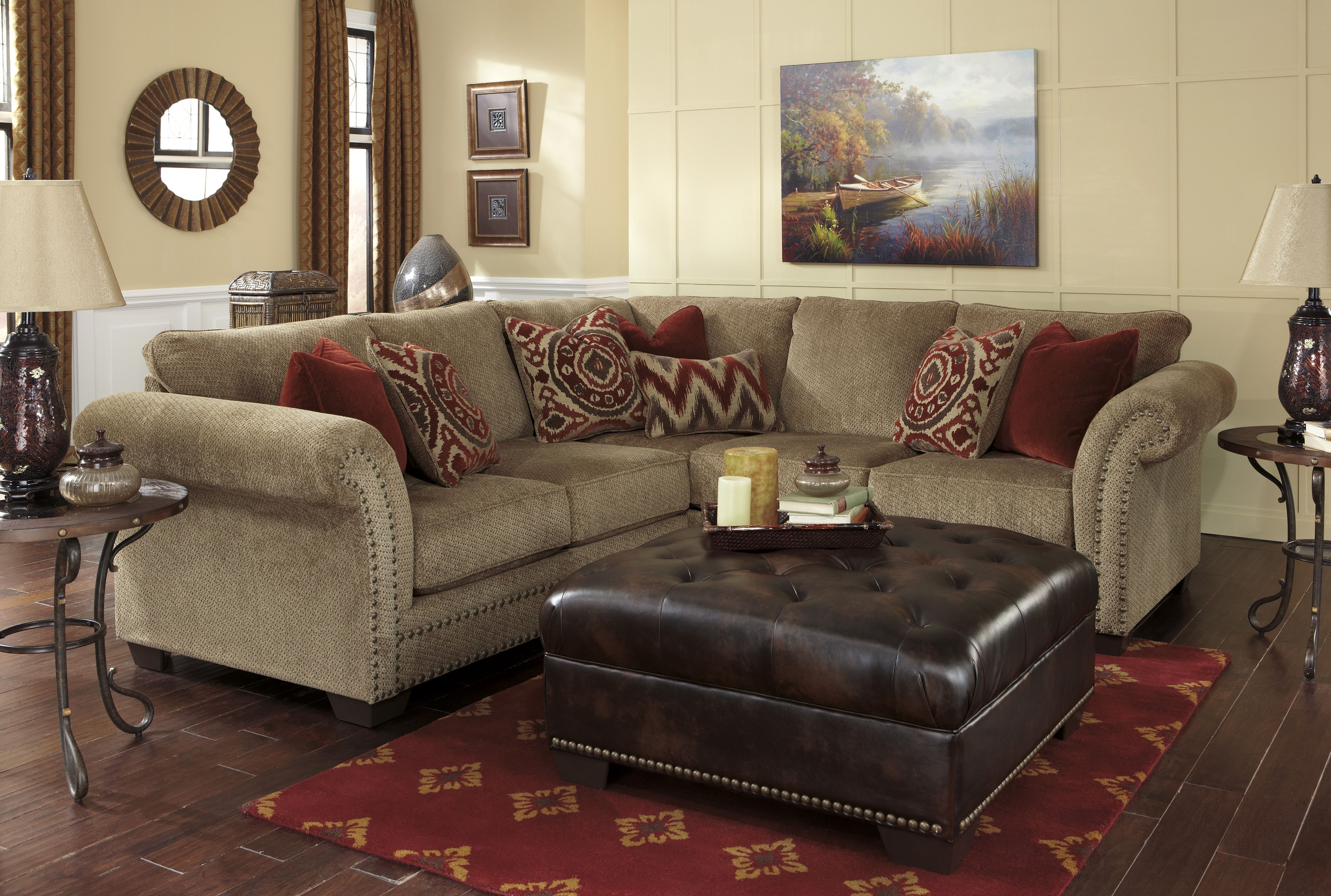 Ashley 238 Grecian Sectional Living Room Furniture Home Decor