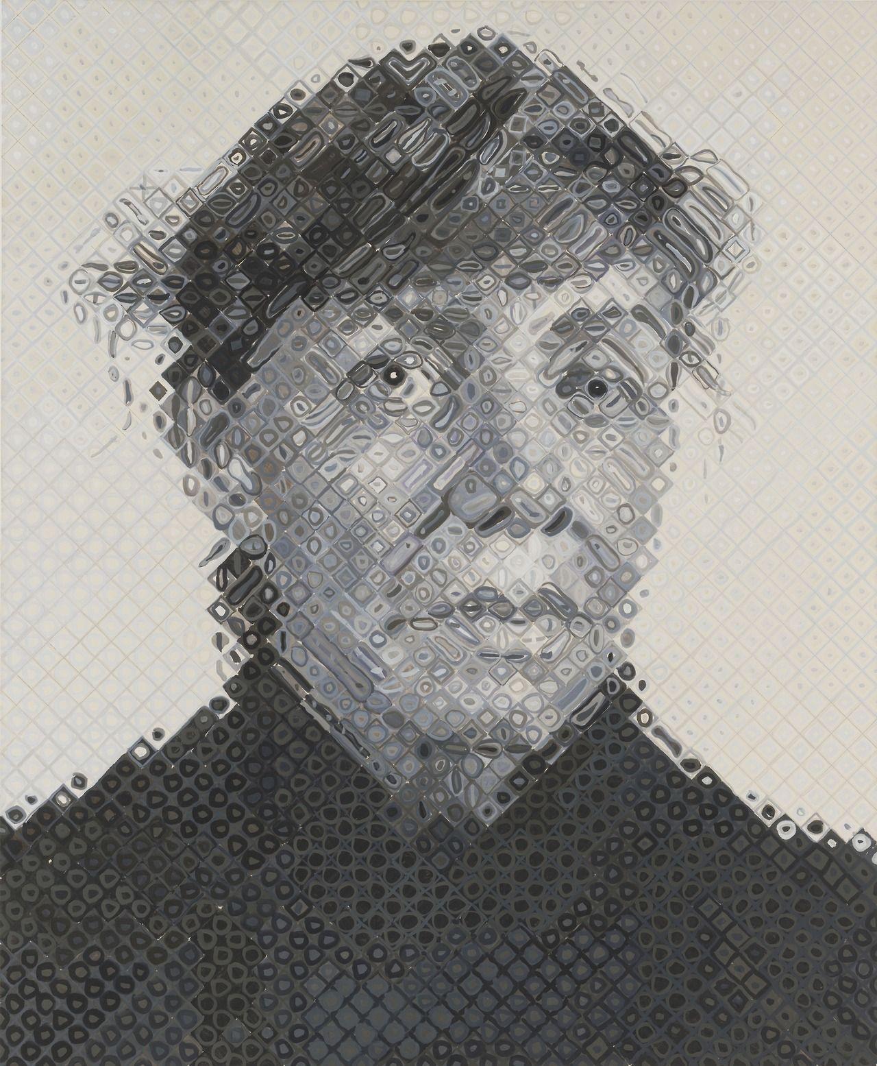 Chuck Close - Dorothea, 1995.