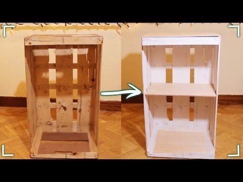 como hacer una repisa estantera o armario con madera reciclada facilito youtube