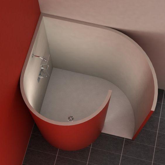 Schneckendusche Mit Ecke 150x117 5 Cm Dusche Duschideen Badezimmerideen