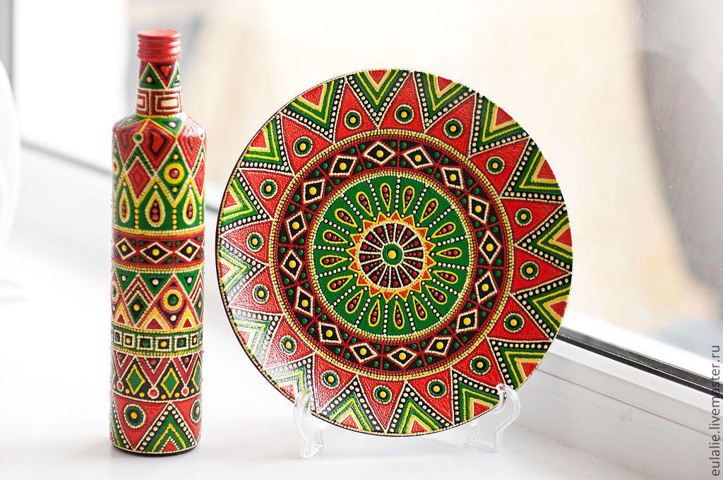 Геометрические узоры картинки на посуде
