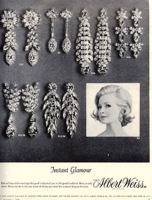 Albert Weiss jewellery vintage poster 1964