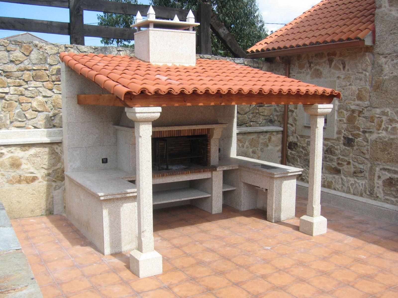 Chimeneas cide barbacoa modelo rosalinda fabricada en piedra nuestros trabajos - Barbacoas rusticas ladrillo ...