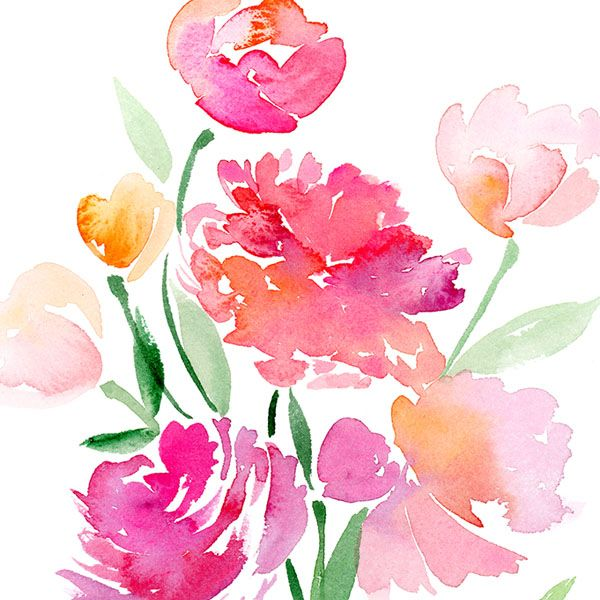 Flo_007_8x10_closeup. Flower WatercolorWatercolor IdeasWatercolour  PaintingFloral ...