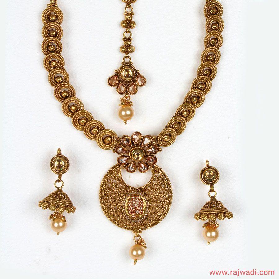 Beautiful Rajvadi Antiqe Necles New Dijain Full Hd Image ...