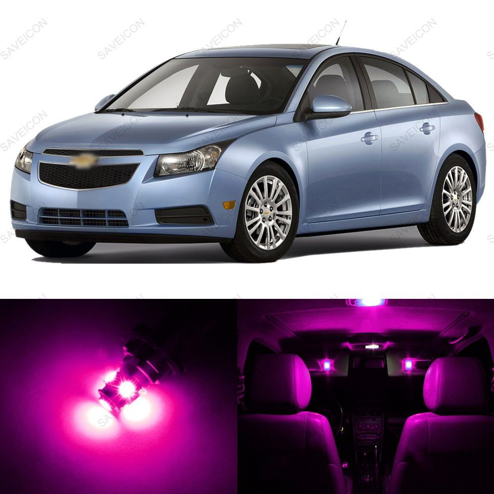 7 x pink purple led interior light package for 2011 2014 chevrolet chevy cruze