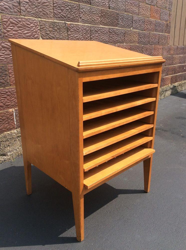 Astounding Vintage Wood Atlas Book Podium Artist Storage 6 Shelf Download Free Architecture Designs Scobabritishbridgeorg