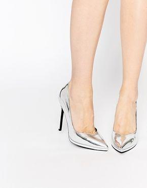 Asos Womens Pioneer Platform Shoes Silver - Flats