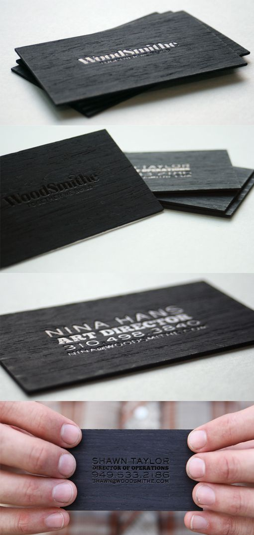 5 perfectly carved wooden business card designs | Business cards ...