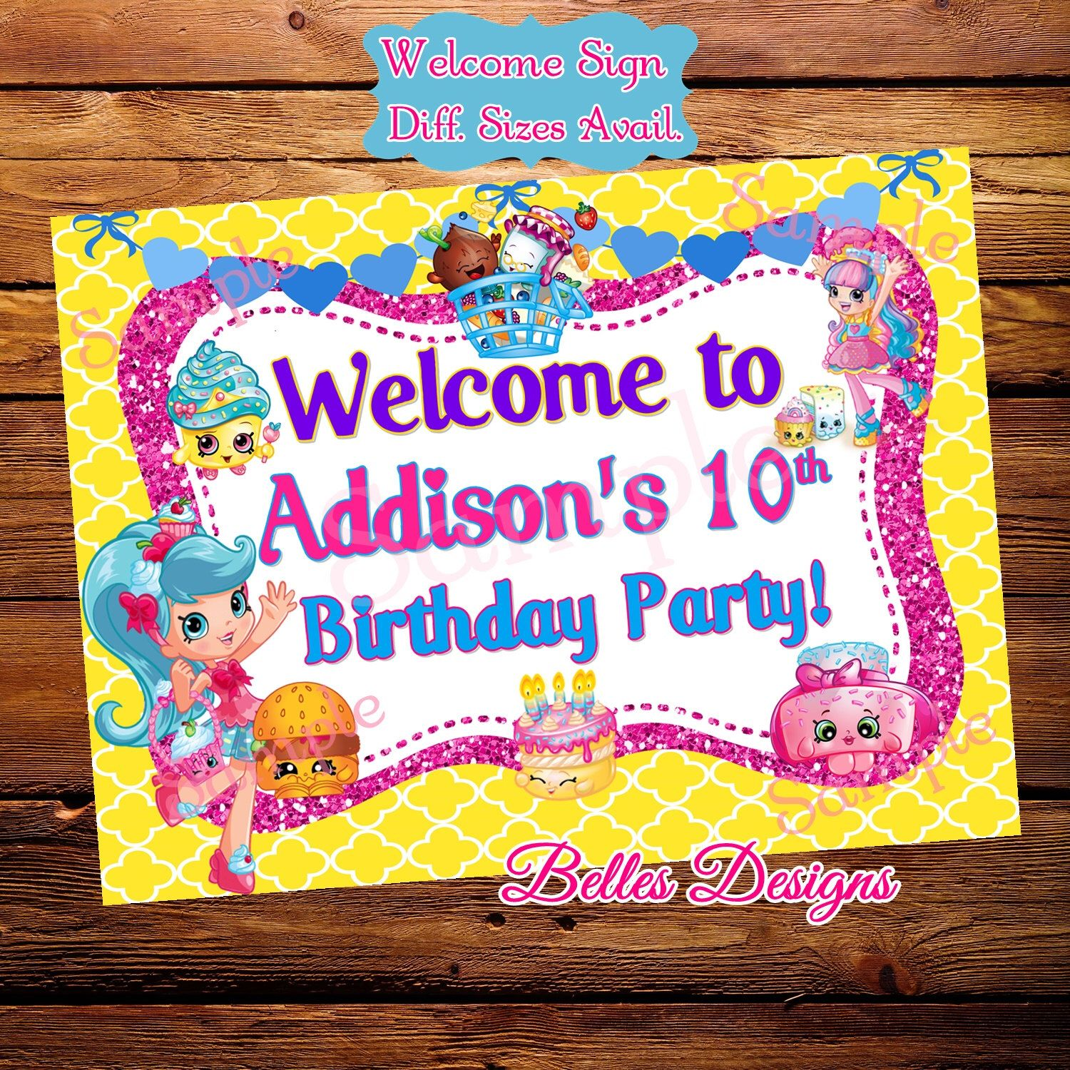 Shopkins Birthday Banner Shopkins Party Banner: Pin By Kimberly Tasset On Party Ideas!