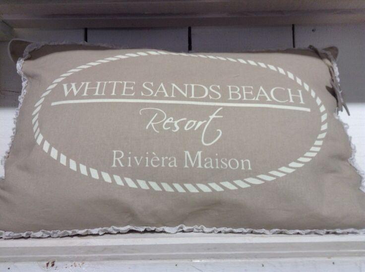 Riviera Maison Kussen : Riviera maison white sands beach resort kussen rm